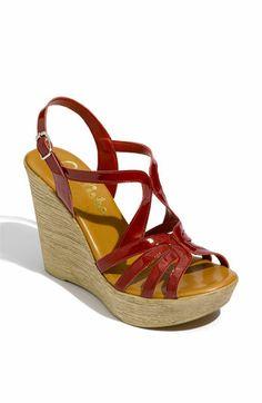 'Tiara' Wedge Sandal - Red Patent