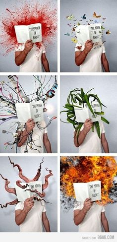 This would be a cool book project.  Students could summarize the book with an image like this.