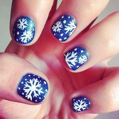 Some amazing ideas for snowflake nail art. Some are super cute