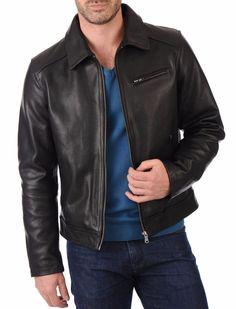 Real Leather Genuine Lambskin Men Jacket Motorcycle Slim Fit Stylish Biker BS25 #WesternOutfit #Motorcycle
