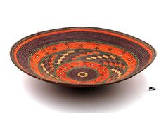 Africa | Basketry platter from the Hausa people of Nigeria | 20th century