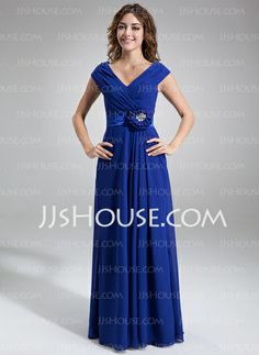 Mother of the Bride Dresses - $136.99 - A-Line/Princess Off-the-Shoulder Floor-Length Chiffon Charmeuse Mother of the Bride Dress With Ruffle Beading Flower(s) (008006252) http://jjshouse.com/A-Line-Princess-Off-The-Shoulder-Floor-Length-Chiffon-Charmeuse-Mother-Of-The-Bride-Dress-With-Ruffle-Beading-Flower-S-008006252-g6252