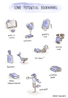 """incidentalcomics: """" I can never find a bookmark when I need one, so I improvise. """""""