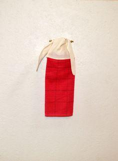 Kitchen Towel Red Towel Towel With Ties Tie On By SuesAkornShop
