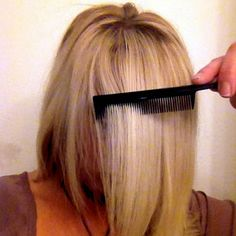 HOW TO: The Perfect Side Swept Bang!this is a life saver! Can work for regular bangs too!