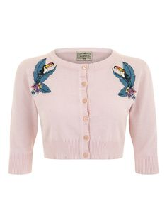 collectif lucy tropical toucan cardigan.