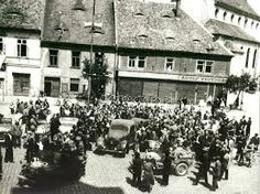 K.H.Frank capture by US soldiers and a policeman Czech Josef Ranc. 05/09/1945 Rokycany, Czech Republic.