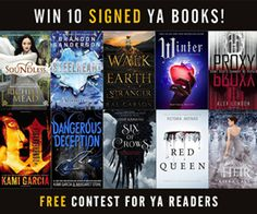 10 signed YA books + $200 Amazon giftcard. Share to win!