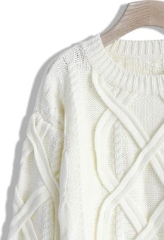 Puffy Cable Knit Sweater