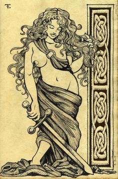 Celtic Goddess by felixxkatt.deviantart.com on @deviantART