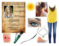 """Daughter of Apollo Camp Half- Blood ID"" by lostprincessofthesea ❤ liked on Polyvore featuring Charlotte Tilbury, Maison Scotch, by&by and Converse"