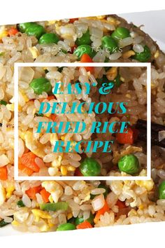 The best & healthy recipes of Easy Delicious Fried Rice Fried Rice Recipe Egg, Fried Rice Recipe Indian, Chicken Fried Rice Recipe Easy, Healthy Fried Rice, Chicken Rice Recipes, Brown Rice Recipes, Easy Rice Recipes, Rice Breakfast Recipes, Vegetarian Rice Recipes
