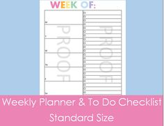 Weekly Schedule Organizer with To Do Checklist  Why I Love It  Consolidate everything you need to get done for the week on this one page. Helps you