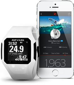Gimmie that! It's a GPS sport watch for surfing! It tracks your wave count, location, speed...omfg i want it!