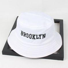 bcacc6ebfbc82 New Men Women Brooklyn Bucket Hat Cotton Printing Hip Hop Fisherman