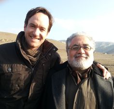 Matthew with Ümit Ünal, Film Director, Writer & Actor on set of EPIC