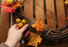 Ladyface Blog: Fall Wreath