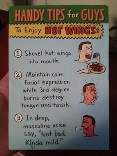 Is that how Daddy eats hot wings?