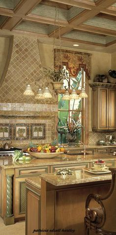 what do you think of the tile covered range hood in this elegant kitchen? | Simmons Building