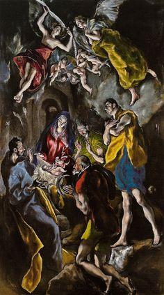 El Greco - Adoracion de los pastores, 1614 at Museo Nacional del Prado Madrid Spain by mbell1975, via Flickr
