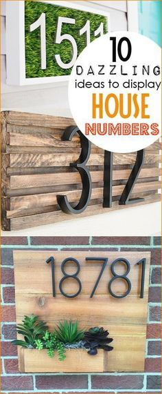 How to make a diy house number sign in minutes exterior decor 10 dazzling ideas to display house numbers house numbers with curb appeal creative ways publicscrutiny Gallery