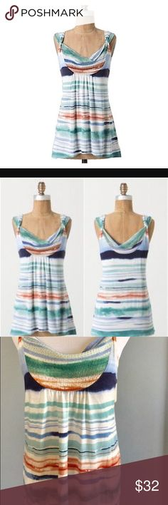 Anthropologie Vanessa Virginia Sagebrush Tank Beautiful, feminine and flowy striped tank by Vanessa Virginia. 💗 Anthropologie Tops Tank Tops