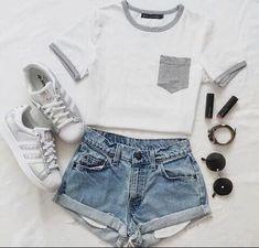 50 cute summer outfits ideas for teen girls - x fashion women - 50 cute summer outfits ideas for teen girls - Teenage Outfits, Teen Fashion Outfits, Nike Outfits, Cute Fashion, Outfits For Teens, Sport Outfits, Trendy Fashion, Fashion Black, Fashion Clothes