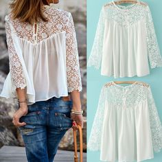 Cheap shirt el, Buy Quality shirt printer directly from China top gun t shirt Suppliers: 	New Summer Women Fashion Casual Lace Shirts Chiffon Blouses T-Shirt Tops	 NOTE: Please compare the detail sizes wi