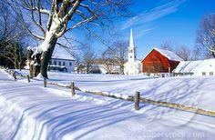 new england snow scenes | Church in Peacham, VT in snow in winter | Stock Photo 1599-11571 ...