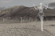 Iceland will install electric columns in the form of unusual walking iron giants - Imgur