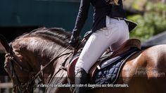 Le cheval est inconfortable au centre et dangereux aux deux extrémités.