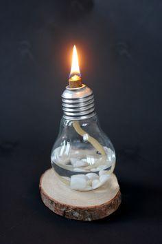 DIY: Oljelampa av glödlampa Inspirami - Inspiration & Creativity inspirami.blogg.se