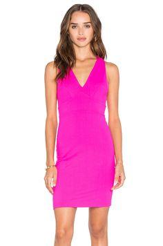 5218b05153 Susana Monaco Gia Dress in Pink Glo Fit Flare Dress