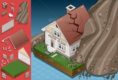 Isometric House Hit by Landslide  #GraphicRiver         Detailed illustration of a house hit by landslide This illustration is saved in EPS10 with color space in RGB. Where possible, the objects have been grouped to make it easily editable or hidden. This image has transparent forms under the land, and the terrain.     Created: 29June13 GraphicsFilesIncluded: JPGImage #VectorEPS #AIIllustrator Layered: Yes MinimumAdobeCSVersion: CS Tags: avalanche #breaking #collapse #collapsing #concepts…