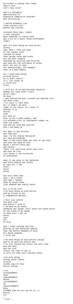 poem, poetry, ocd, obsessive compulsive disorder