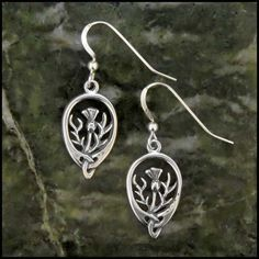 Simple thistle drop earrings in Sterling Silver, perfect for everyday wear!