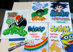 #marcamostuscuadernos - rania_detalles Notebook Art, Vocabulary Activities, Pokemon, Caligraphy, Book Design, Preschool, Doodles, Lily, Letters