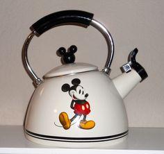 Disney Mickey Mouse Tea Pot Whistling Kettle Rare