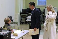 Mitt Romney and Ann Romney Photos - Republican Presidential Mitt Romney Votes In The Massachusetts Primary - Zimbio