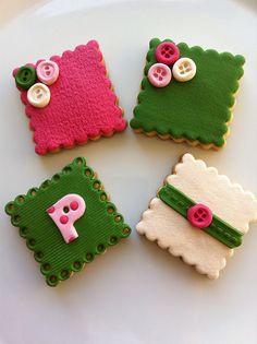 Fabric cookies by guzinhakan, via Flickr
