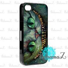 New Custom Cheshire Cat Alice In Wonderland iPhone 4 4S Case Cover