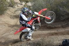 Using all the same engineering that went into the 2017 Honda the 2017 Honda takes Big Red's moto madness into the closed-course competition arena. Triumph Motorcycles, Custom Motorcycles, Motorcycle Quotes, Girl Motorcycle, Off Road Racing, Auto Racing, Dirt Bike Girl, 4 Wheelers, Sportbikes