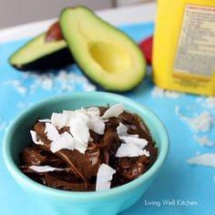 5 Ingredient, No Cook Pudding is rich and creamy thanks to an avocado, but you can't tell it's in there - from Living Well Kitchen