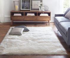 fluffy white rug