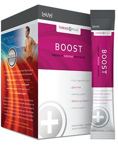 BOOST is designed to help alkalize and energize your system with each serving, resulting in enhanced energy levels, detox & cleansing support, immune support, free radical support, and ph level support.THRIVE Plus - Boost