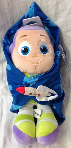 Disneyland Paris Toy Story Baby Buzz Lightyear in Blanket Plush Doll 12""