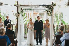 Laura and Gavin, now Mr and Mrs, married by Cairns celebrant Janine Meakin