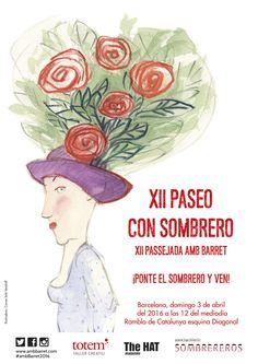 XII Paseo con Sombrero de Barcelona. 3 de abril de 2016 www.ambbarret.com