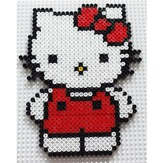 Hello Kitty perler beads by miss_lildballe