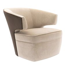 Buy Lana Club Chair by Donghia - Made-to-Order designer Furniture from Elle Decor's collection of Contemporary Armchairs & Club Chairs. Contemporary Armchair, Contemporary Furniture, Round Sofa Chair, Love Chair, Small Sofa, Fabric Houses, Lounge Seating, Club Chairs, Lounge Chairs